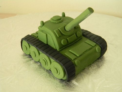 Small Army Tank Cake Topper